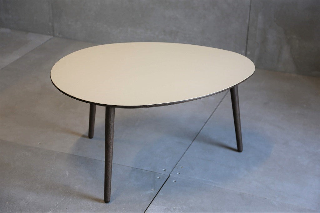 VIA Coffee table oval smoked/pearl linoleum (only 9 pc. made)