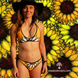 SUNFLOWER YELLOW Bikini - Wipaka Designs