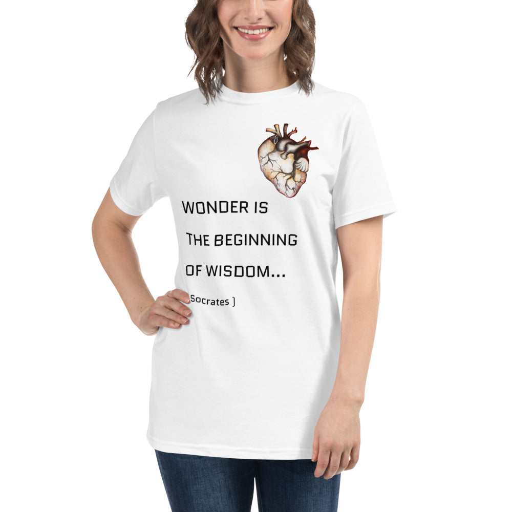 WONDER white Organic T-Shirt - Wipaka Designs