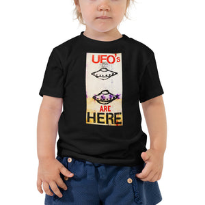UFO'S ARE HERE....Toddler Short Sleeve Tee - Wipaka Designs