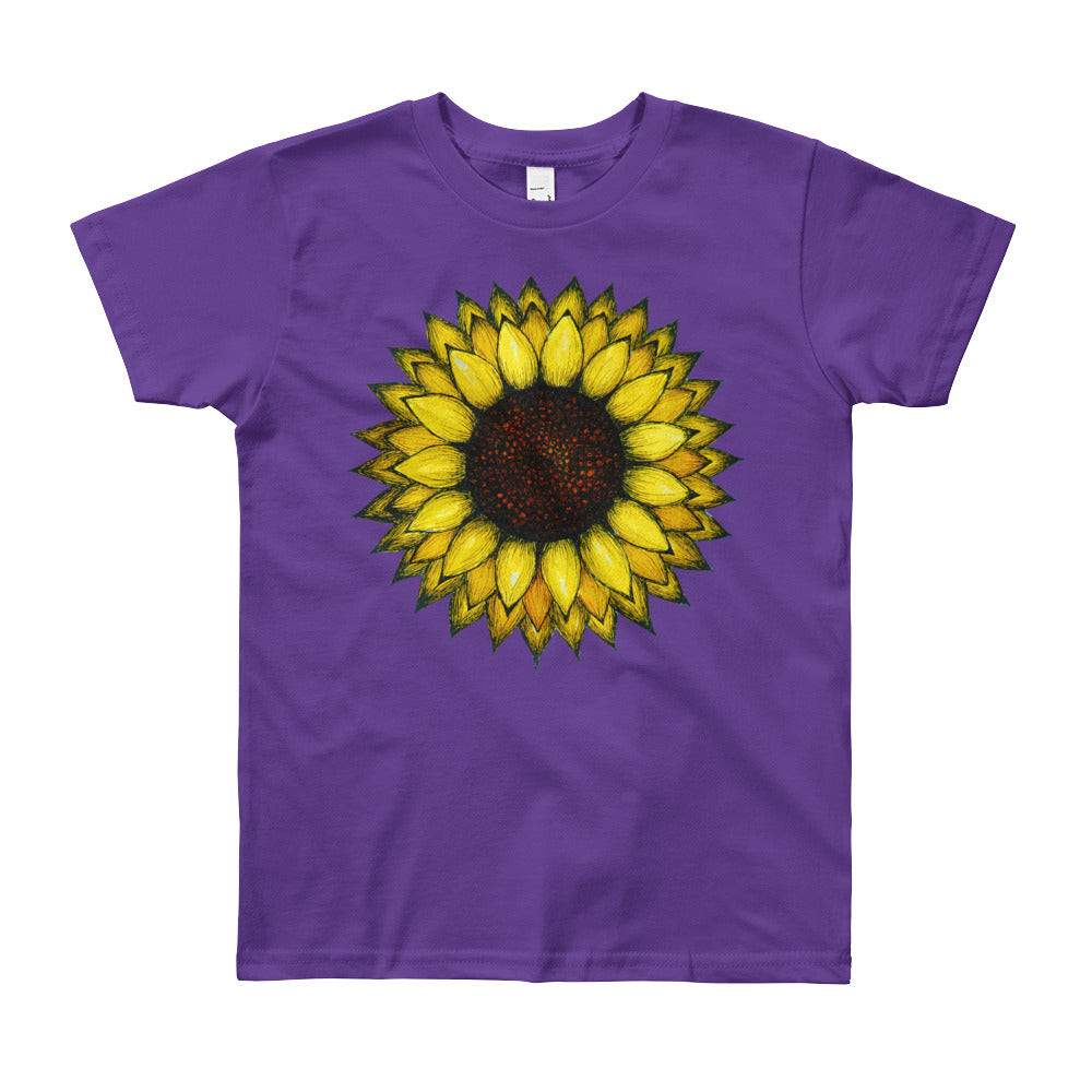 SUNFLOWER Youth  T-Shirt - Wipaka Designs