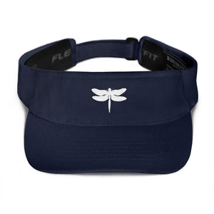 White dragonfly Visor - Wipaka Designs