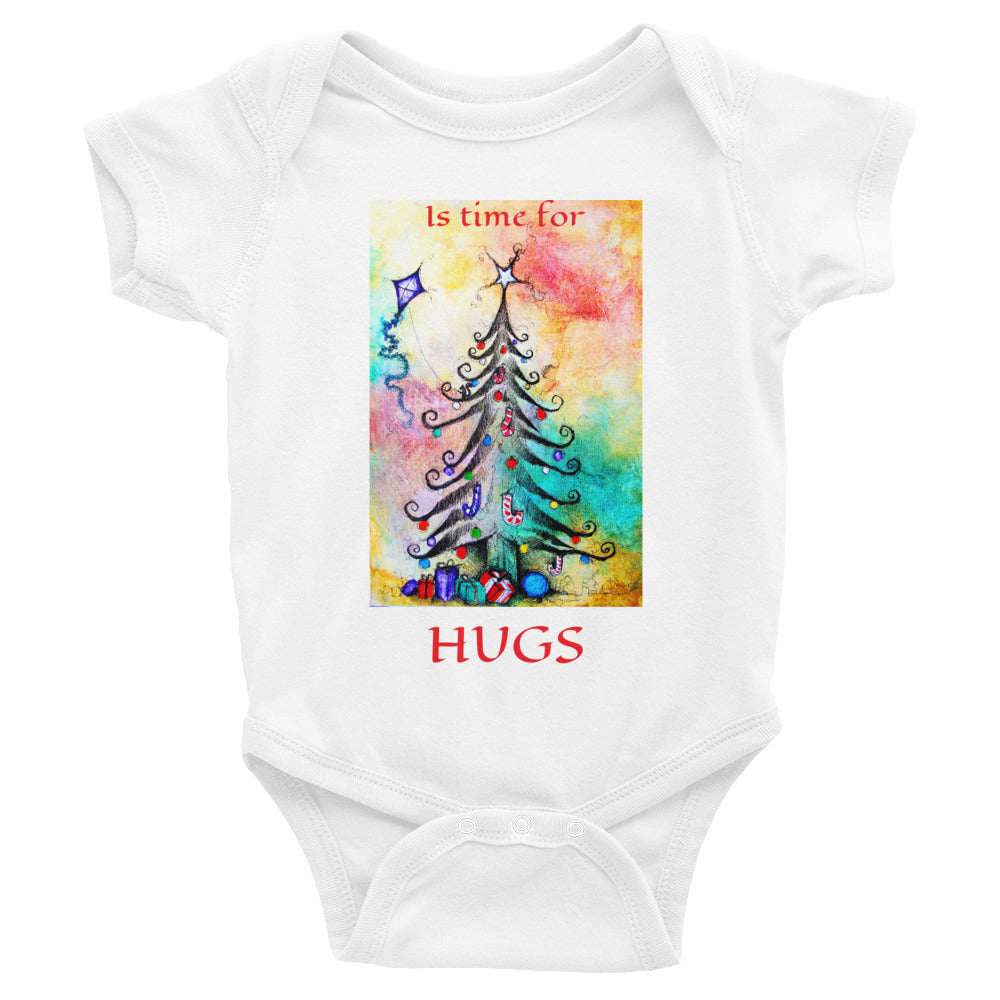 IS TIME FOR HUGS...Infant Bodysuit - Wipaka Designs