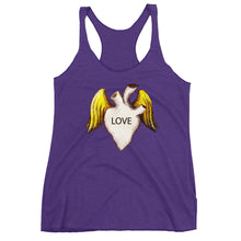 Love heart with wings Women's Racerback Tank - Wipaka Designs