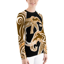 AFRICAN ELEPHANT Women's Rash Guard - Wipaka Designs