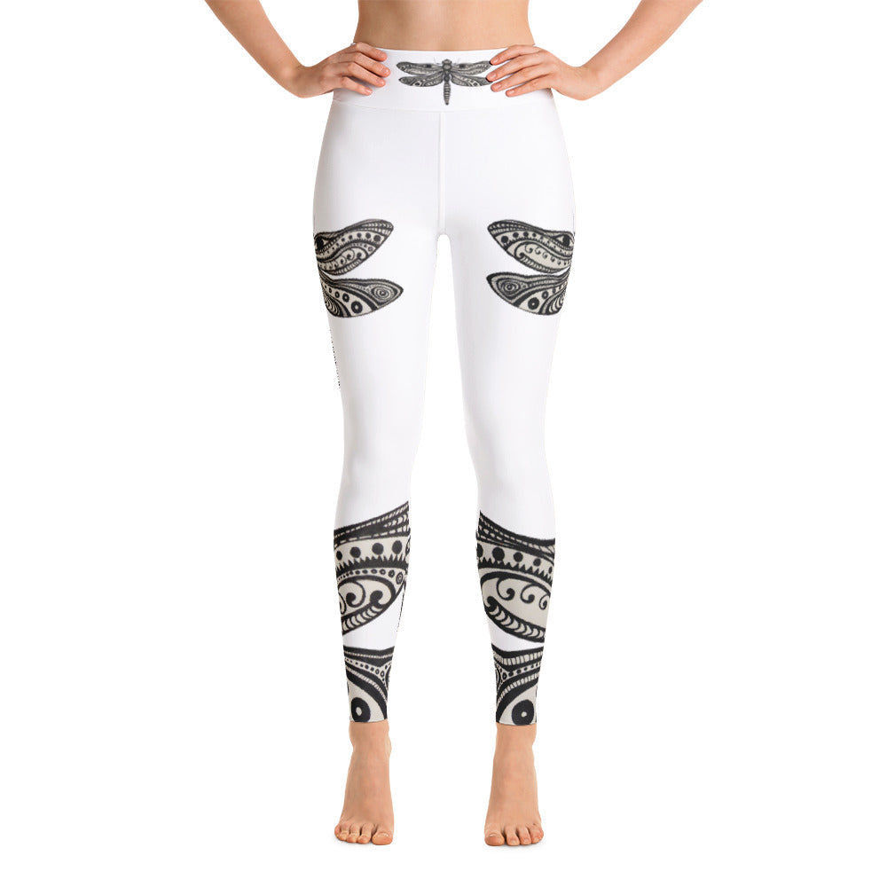DRAGONFLY Yoga Leggings - Wipaka Designs