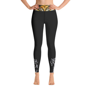 Deer black Yoga Leggings - Wipaka Designs
