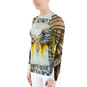 ANGEL Women's Rash Guard - Wipaka Designs