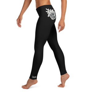 """HEART BRAIN"" leggings black"