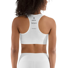 """HEART BRAIN"" Sports bra white - Wipaka Designs"