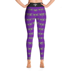 Light Purple dragonfly Yoga Leggings - Wipaka Designs