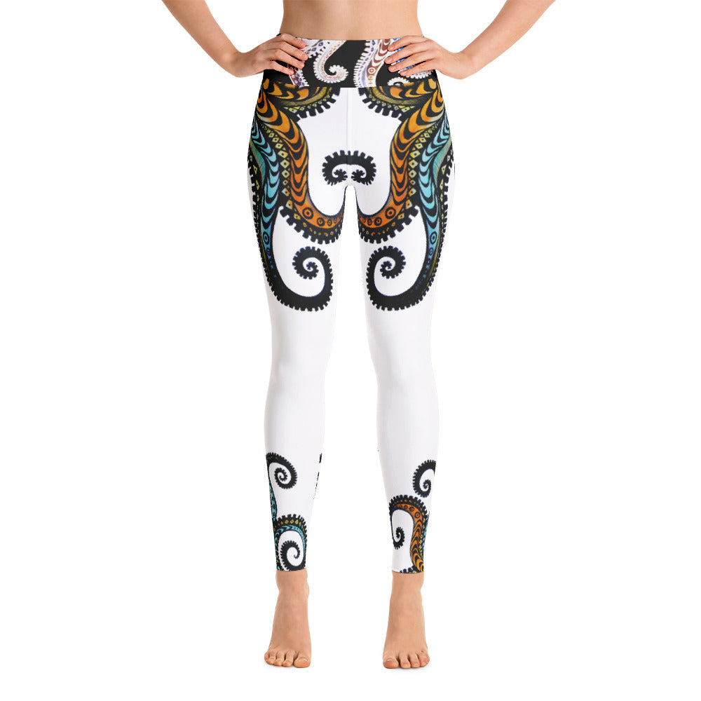 OCTOPUS (white)Yoga Leggings - Wipaka Designs