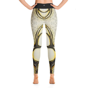 Magical deer (black) Yoga Leggings - Wipaka Designs