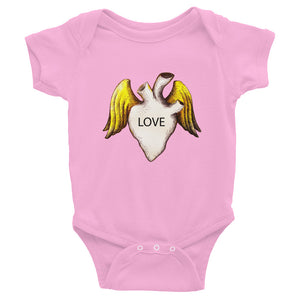 LOVE HEART...Infant Bodysuit - Wipaka Designs