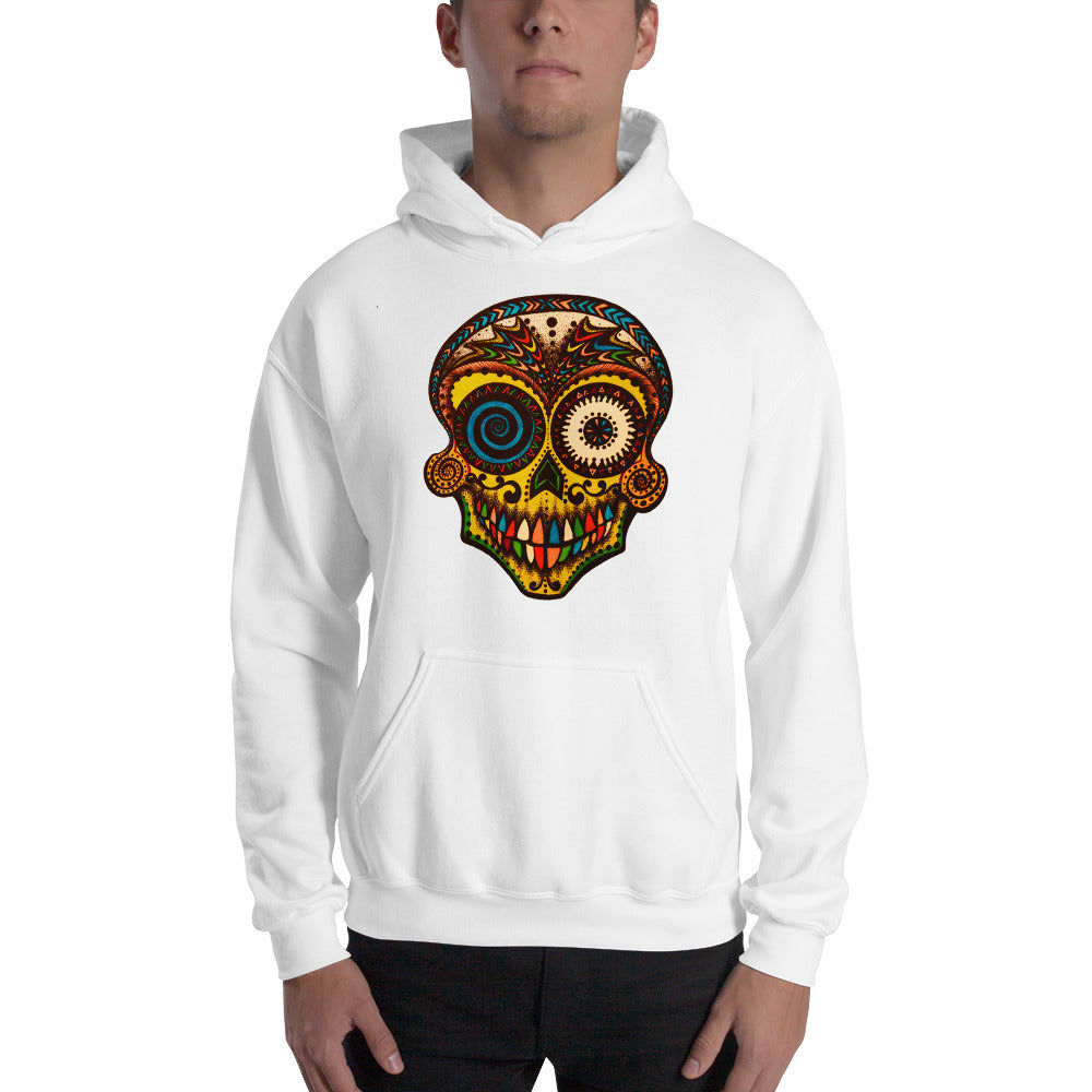 DAY OF THE DEAD color skull Hoodie - Wipaka Designs