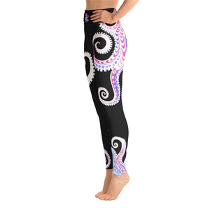 OCTOPUS (black/pink)Yoga Leggings - Wipaka Designs