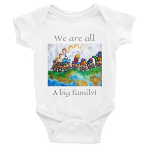 We are all a big family!...Infant Bodysuit - Wipaka Designs