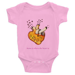 Home is where the heart is...Infant Bodysuit - Wipaka Designs