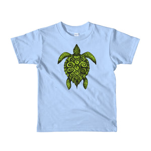 TURTLE PROTECTOR green on light blue kid's T-Shirt - Wipaka Designs
