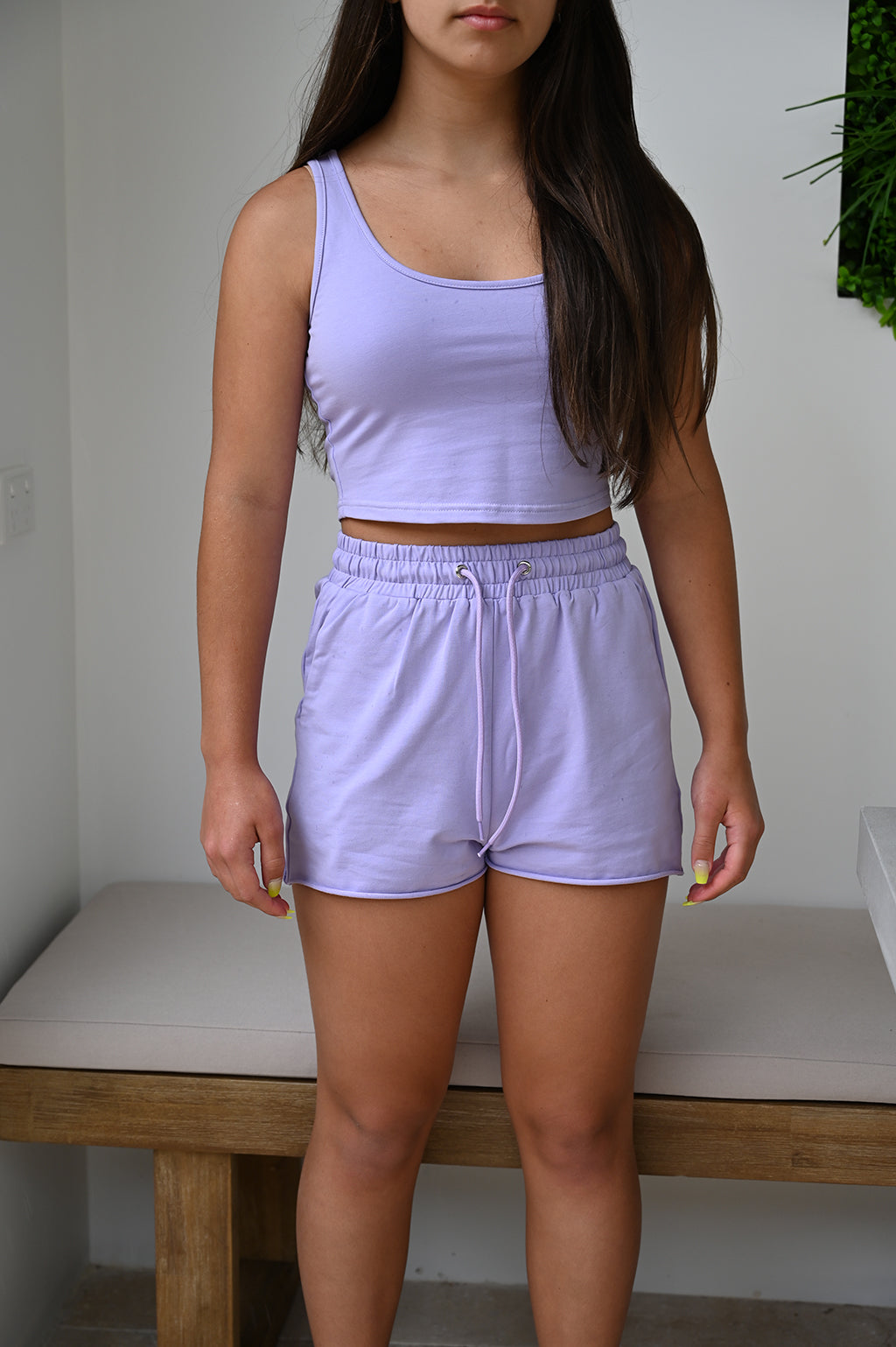 Kylie Singlet Crop - Purple