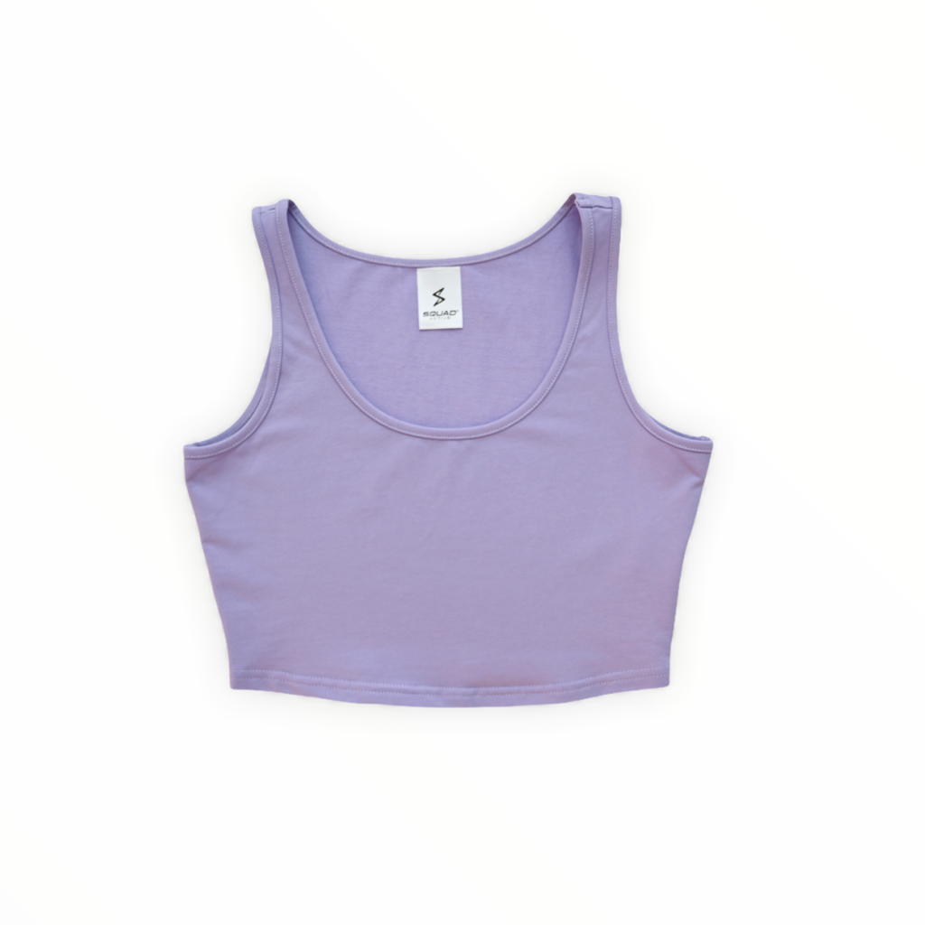 purple crop tee