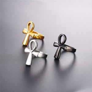 Ring - Ankh (Gold/Black/Silver)