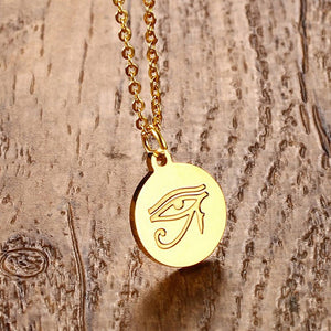 Necklace - Eye of Horus Engraved Pendant