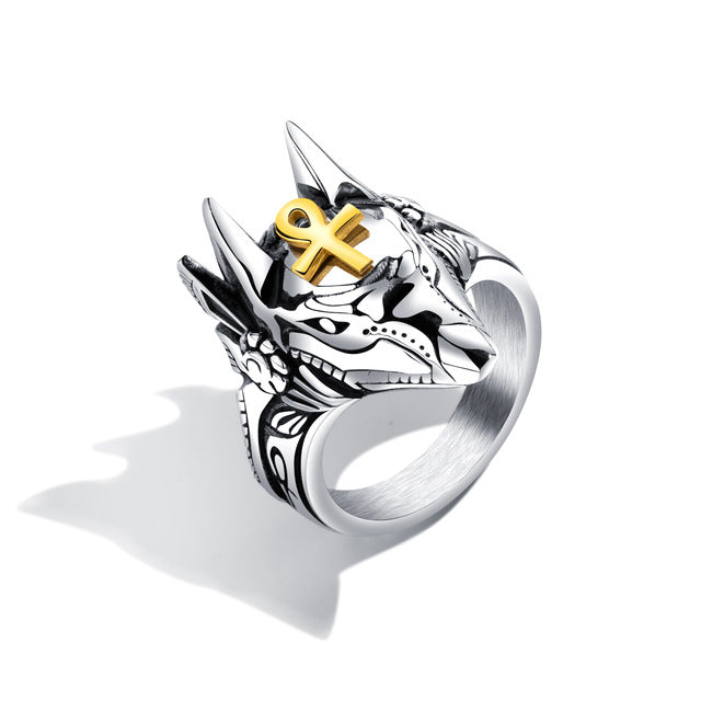 Ring - Punk Anubis (Stainless Steel)