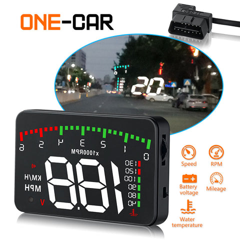 3.5 A900 HUD Head-Up Display Car-styling Hud Display Overspeed Warning Windshield Projector Alarm System Universal Auto