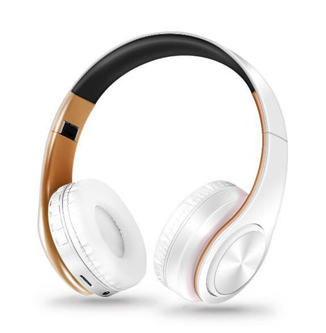 Wireless Bluetooth Headphones Foldable Stereo Headset Music Earphone with Microphone Support TF Card FM Radio AUX - DRE's Electronics and Fine Jewelry: Online Shopping Mall