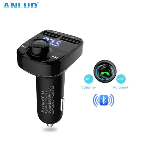 ANLUD Bluetooth Handsfree Car Kit FM Transmitter Micro SD TF MP3 Music Play Wireless Modulator