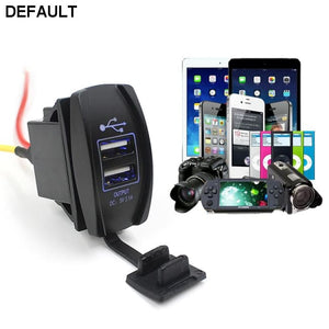 12V 24V Car Auto Boat Accessory Dual USB Charger Power Adapter LED Outlet - DRE's Electronics and Fine Jewelry: Online Shopping Mall