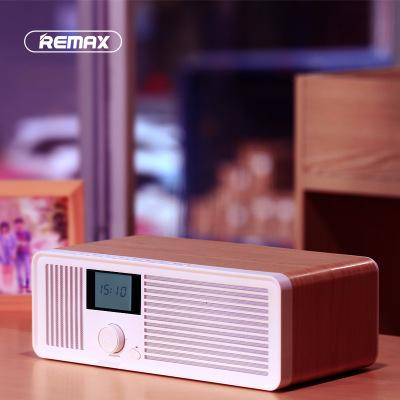 REMAX Retro Wood Dual Loudspeakers Wireless Bluetooth Speaker Support AUX Radio Fm For Xiaomi Iphone Samsung Smartphones Tablets