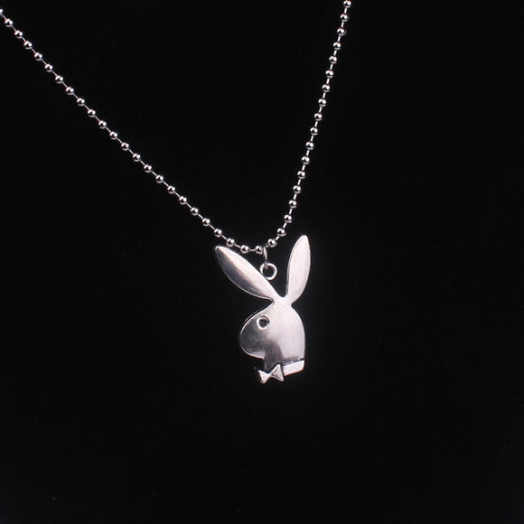 2020 new Women Fashion Cute Long Ear Bunny Pendant Necklaces Charm Playboy Necklace Party Jewelry Collier Femme