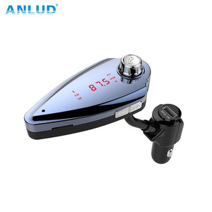 ANLUD Bluetooth Wireless Car Mp3 Player Handsfree Car Kit FM Transmitter Radio