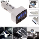 4 In 1 Dual USB Car Charger Adapter Voltage DC 5V 3.1A Tester For iPhone - DRE's Electronics and Fine Jewelry: Online Shopping Mall