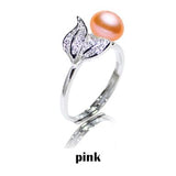 YIKALAISI Pearl jewelry 7-8 mm rings 925 sterling silver jewelry