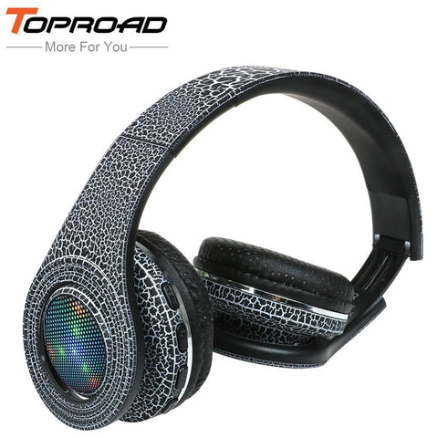 TOPROAD Casque Auriculares Bluetooth Headset Glowing LED Big Wireless Earphone Head Phone - DRE's Electronics and Fine Jewelry: Online Shopping Mall