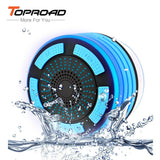 TOPROAD Waterproof Wireless Stereo Bluetooth Speaker Portable Shower Sounders LED Light Handsfree