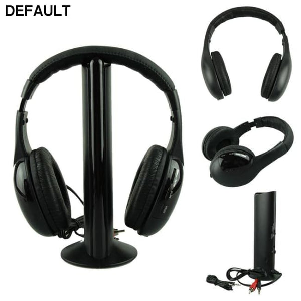 5IN1 Wireless Headphone Casque Audio Sans Fil Ecouteur Hi-Fi Radio FM TV MP3 MP4 - DRE's Electronics and Fine Jewelry: Online Shopping Mall