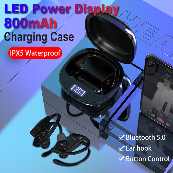 T11 Led Display Bluetooth Earphones TWS Wireless Sports headphones earburds Waterproof 8D Stereo Handsets with MIC charging case - DRE's Electronics and Fine Jewelry: Online Shopping Mall