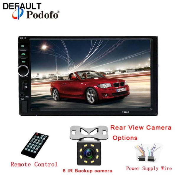 "7018B Autoradio 2 Din Car Radio 7"" HD Touch Screen Audio Stereo Bluetooth Video MP5 Multimedia Player Support Rear View Camera - DRE's Electronics and Fine Jewelry: Online Shopping Mall"