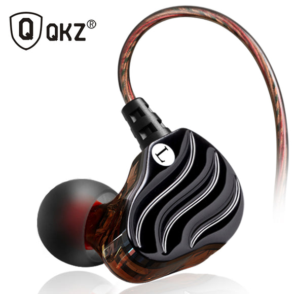 Earphones QKZ KD4 fone de ouvido Mini Dual Driver Original hybrid dual dynamic driver Headphone mp3 DJ Headset auriculares - DRE's Electronics and Fine Jewelry: Online Shopping Mall