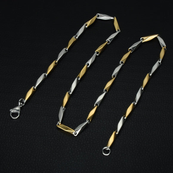 Gold Color American Flag Men Pendant Necklace Trendy USA Symbol Stainless Steel Titanium Chain Necklaces Jewelry