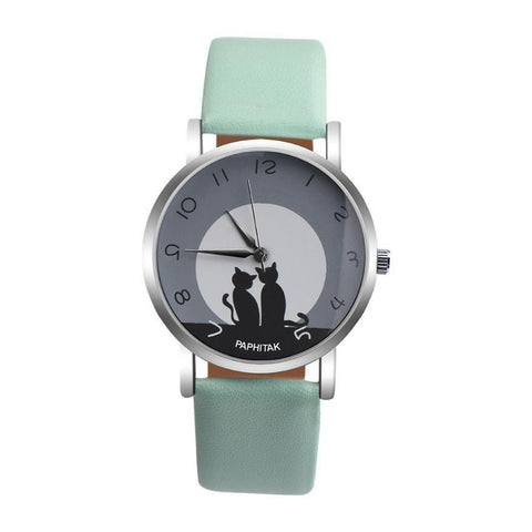 Cute Cat Printed Women Watches - DRE's Electronics and Fine Jewelry: Online Shopping Mall