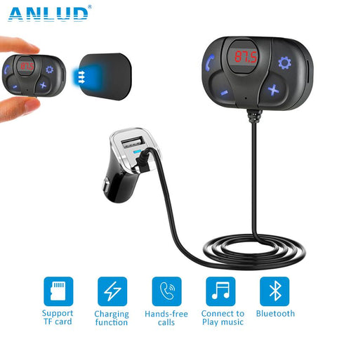 ANLUD Wireless Bluetooth Car Kit FM Transmitter Modulator Handsfree Audio Music Player USB Car Charger FM Transmitter - DRE's Electronics and Fine Jewelry: Online Shopping Mall