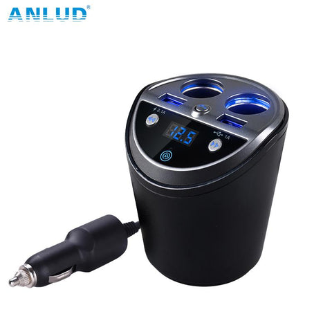 ANLUD Bluetooth Wireless Car FM Transmitter Mp3 Player Cup Holder Handsfree Car Kit - DRE's Electronics and Fine Jewelry: Online Shopping Mall