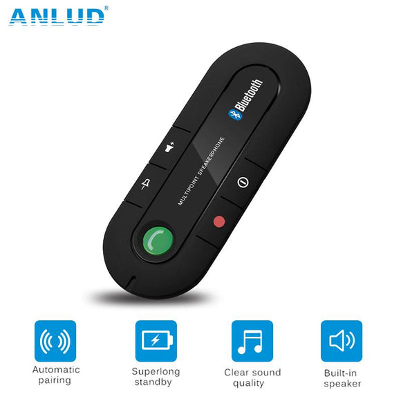ANLUD Wireless Bluetooth Handsfree Car Kit Multipoint Speakerphone MP3 Music Player Sun Visor - DRE's Electronics and Fine Jewelry: Online Shopping Mall