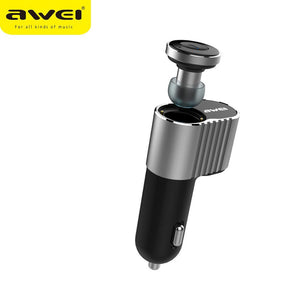 Awei A871BL Headset Super Mini Wireless Bluetooth Earbuds With Single USB Car Charger Adapter