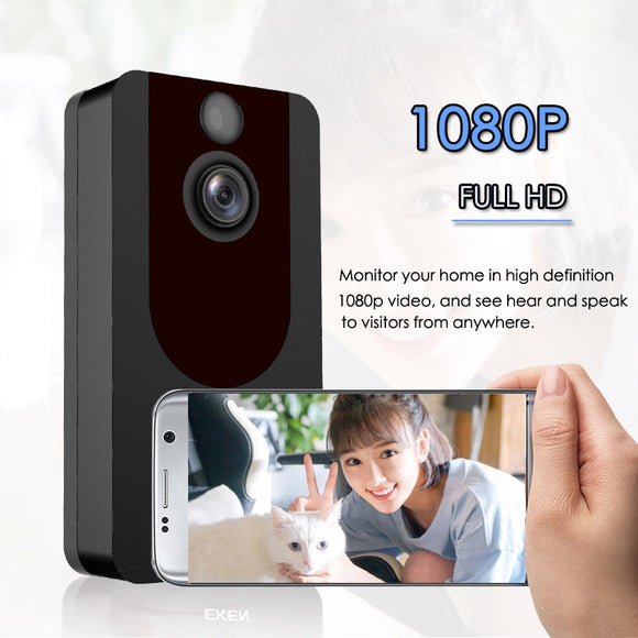 EKEN V7 HD 1080P Smart WiFi Video Doorbell Camera Visual Intercom Night vision IP Door Bell Wireless Security Camera